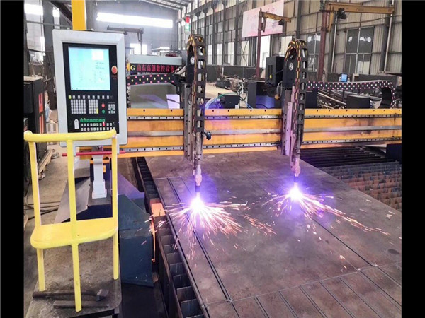 Double Drive Gantry CNC Plasma Cutting Machine H Beam Produksi Line Hypertherm CNC System